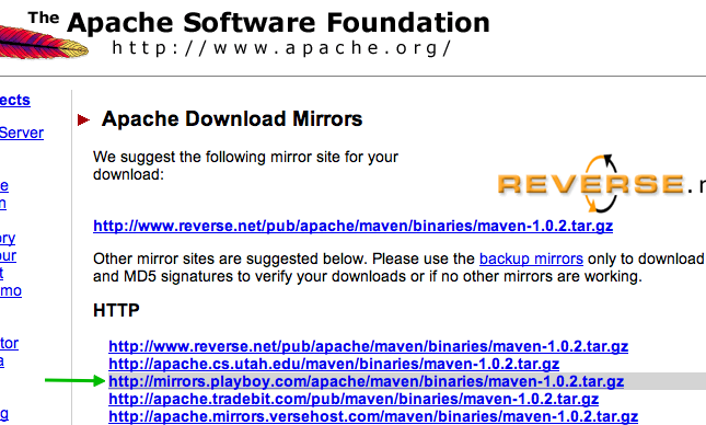 Apache.org screenshot