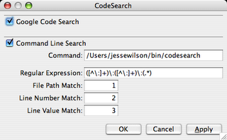 Codesearch Settings